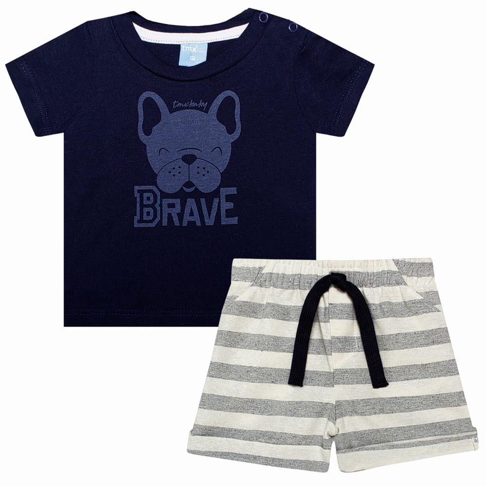 TMX4082-MR-A-moda-bebe-menino-conjunto-camiseta-short-em-malha-bulldog-brave-TMX-no-bebefacil-loja-de-roupas-para-bebes