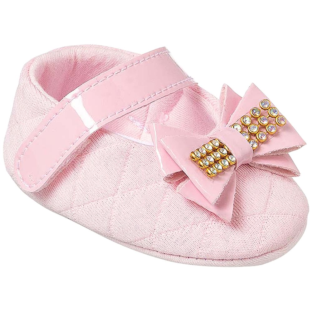 KB1163-7-A-sapatinhos-bebe-menina-sapatilha-matelasse-laco-rosa-keto-keto-baby-no-bebefacil-loja-de-roupas-enxoval-e-acessorios-para-bebes