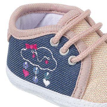 KB3265-169-B-sapatinhos-bebe-menina-tenis-em-malha-nude-jeans-keto-keto-baby-no-bebefacil-loja-de-roupas-enxoval-e-acessorios-para-bebes