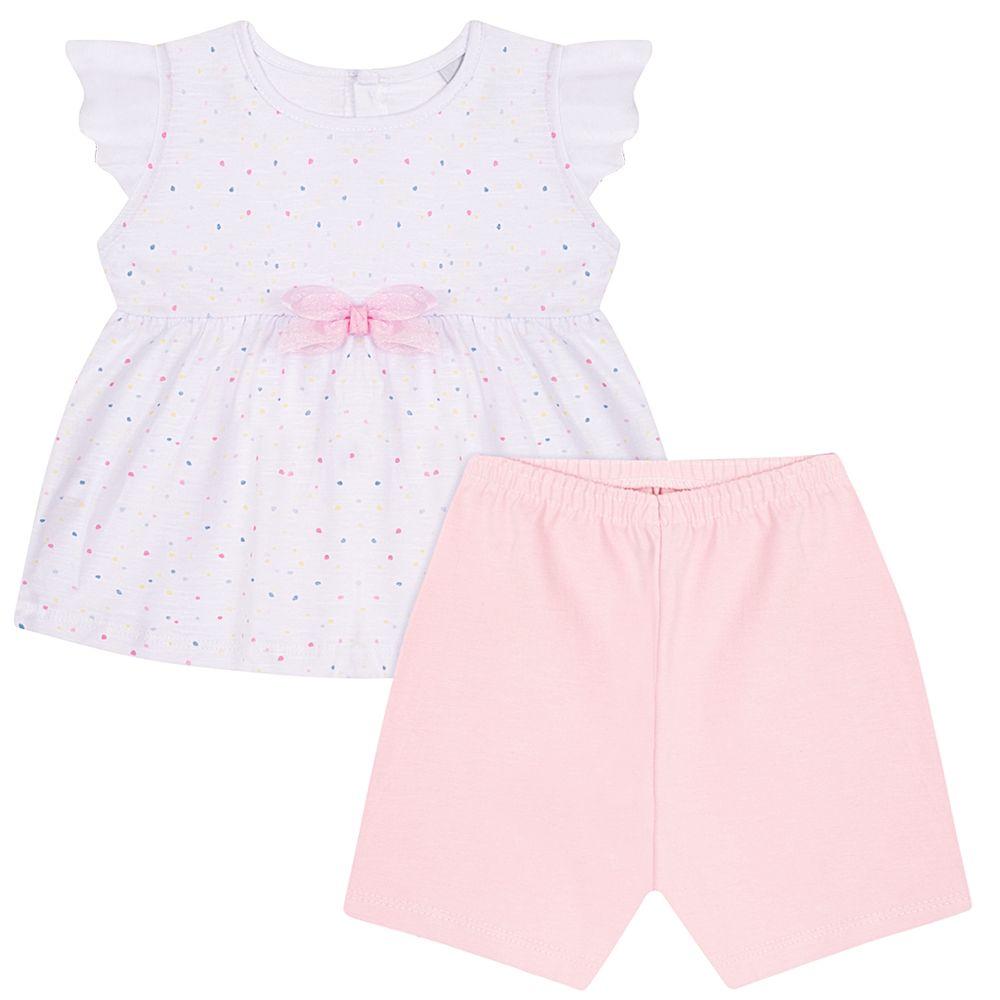 JUN50147-A-menina-bata-com-shorts-em-malha-flame-poa-branco-rosa-junkes-baby-no-bebefacil-loja-de-roupas-enxoval-e-acessorios-para-bebes