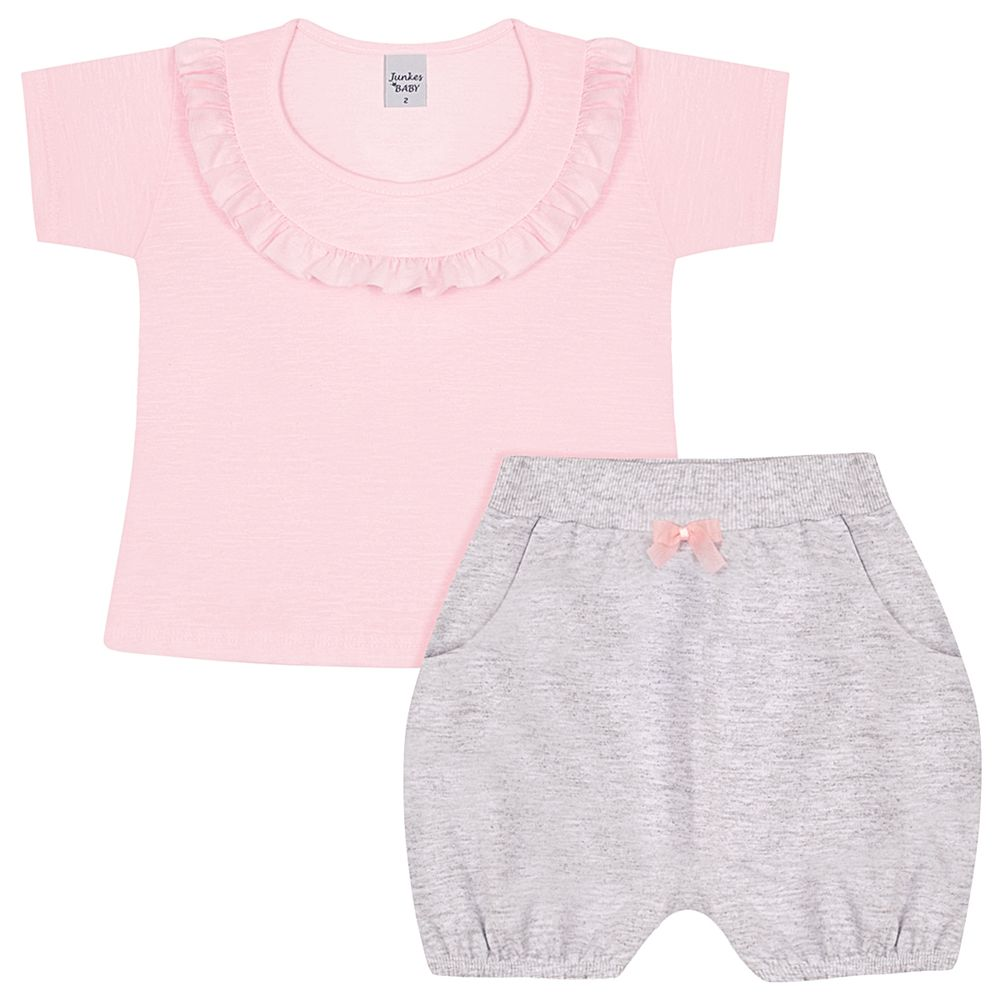 JUN50153-4-A-menina-bata-com-shorts-em-malha-flame-rosa-junkes-baby-no-bebefacil-loja-de-roupas-enxoval-e-acessorios-para-bebes