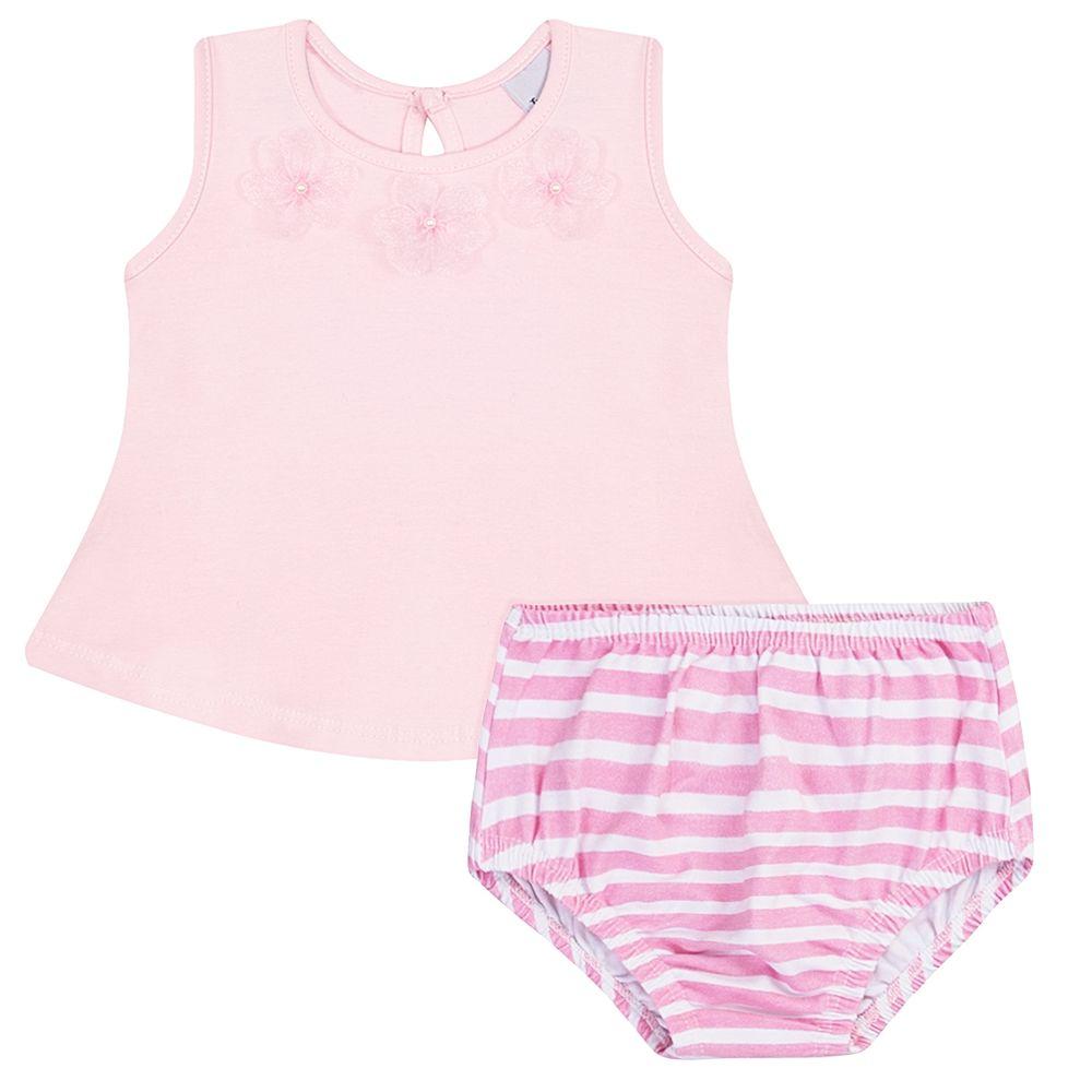 JUN40119-A-moda-bebe-menina-vestido-calcinha-em-cotton-florzinhas-rosa-junkes-baby-no-bebefacil-loja-de-roupas-enxoval-e-acessorios-para-bebes