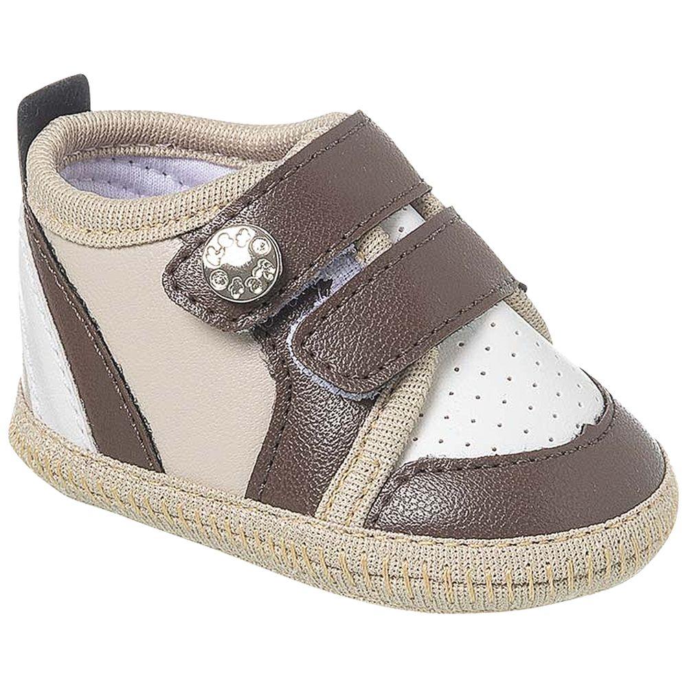 KB3268-12-A-sapatinhos-bebe-menino-tenis-sneaker-marrom-bege-keto-baby-no-bebefacil-loja-de-roupas-enxoval-e-acessorios-para-bebes