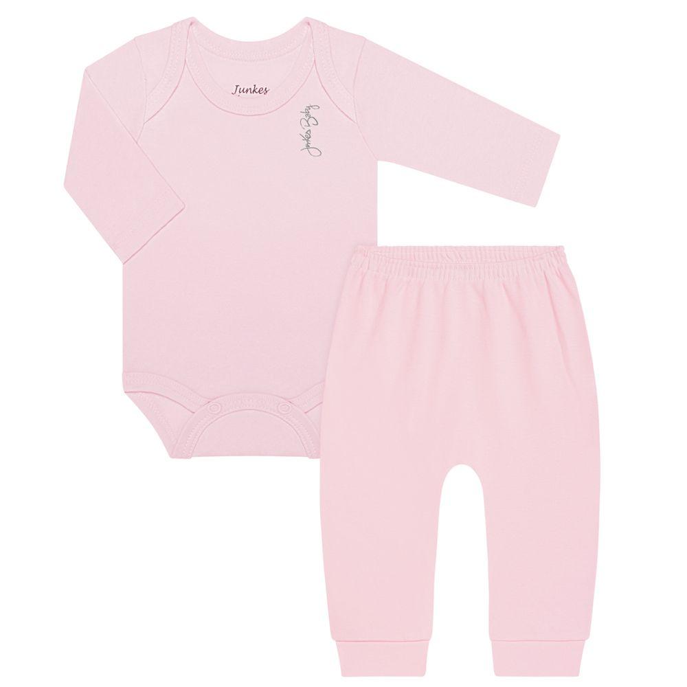 JUN20104-A-moda-bebe-menina-menino-body-longo-suedine-off-rosa-junkes-baby-no-bebefacil-loja-de-roupas-enxoval-e-acessorios-para-bebes