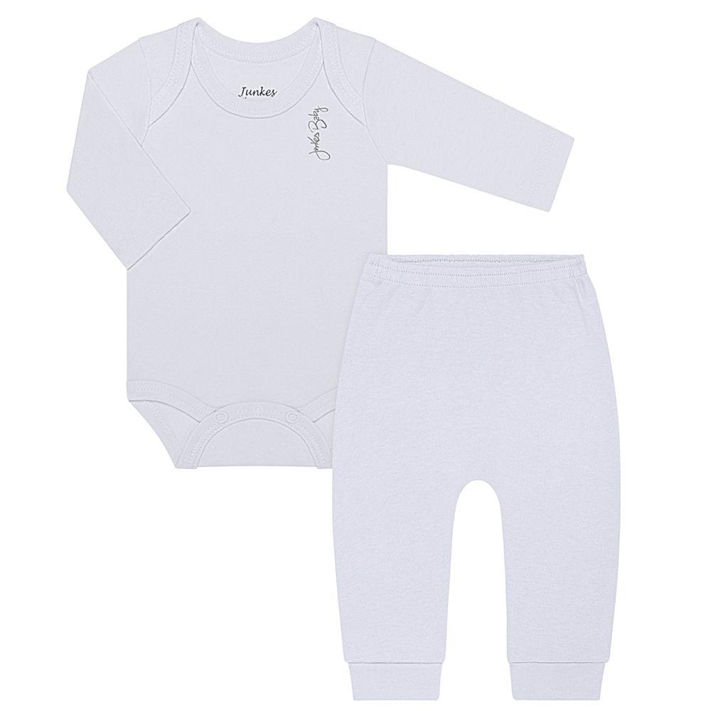 JUN21104-BR-A-moda-bebe-menina-menino-conjunto-body-longo-calca-em-suedine-branco-junkes-baby-no-bebefacil-loja-de-roupas-enxoval-e-acessorios-para-bebes