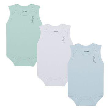 JUN21113-A-moda-bebe-menino-kit-3-bodies-regata-em-suedine-verde-branco-azul-junkes-baby-no-bebefacil-loja-de-roupas-enxoval-e-acessorios-para-bebes