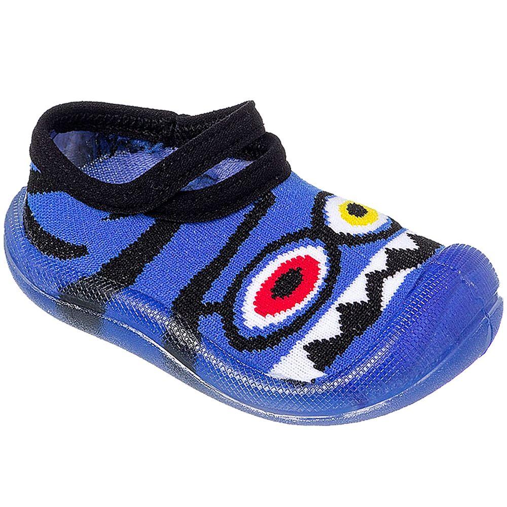 KB22038-14-A-sapatinhos-meia-com-sola-monstrinho-azul-keto-baby-no-bebefacil-loja-de-roupas-enxoval-e-acessorios-para-bebes