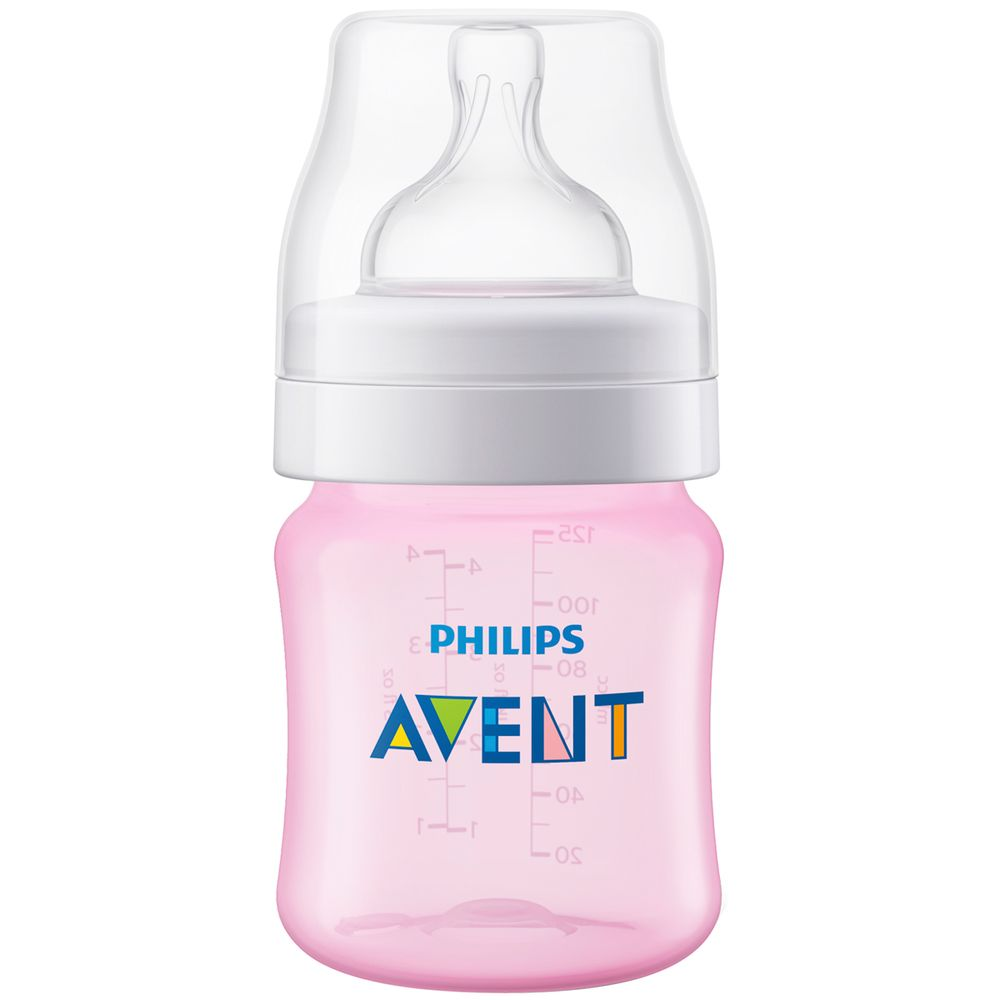 SCF811-17-A-Mamadeira-Anticolica-Rosa-125ml-0m---Philips-Avent