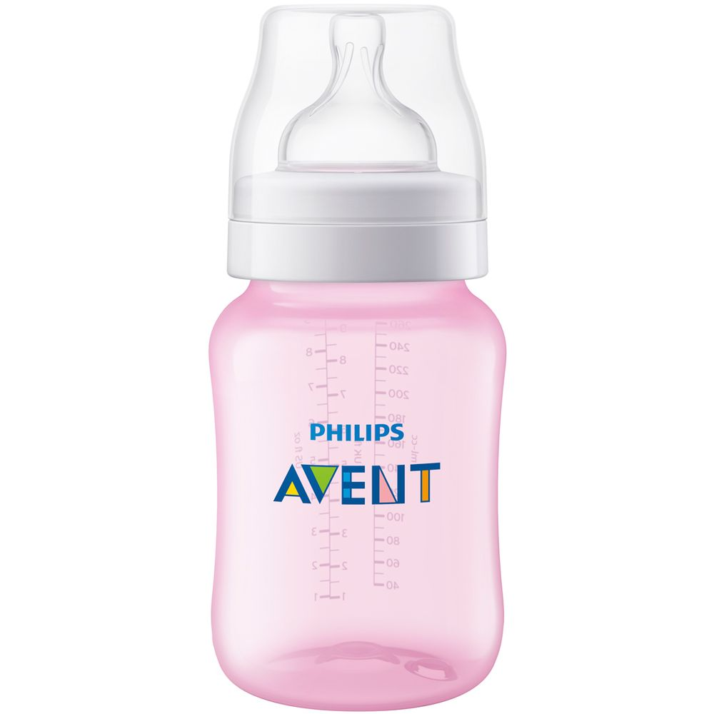 SCF814-17-A-Mamadeira-Anticolica-Rosa-260ml--1m-----Philips-Avent