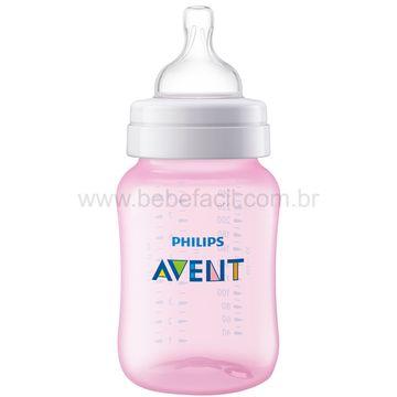 SCF814-17-B-Mamadeira-Anticolica-Rosa-260ml--1m-----Philips-Avent