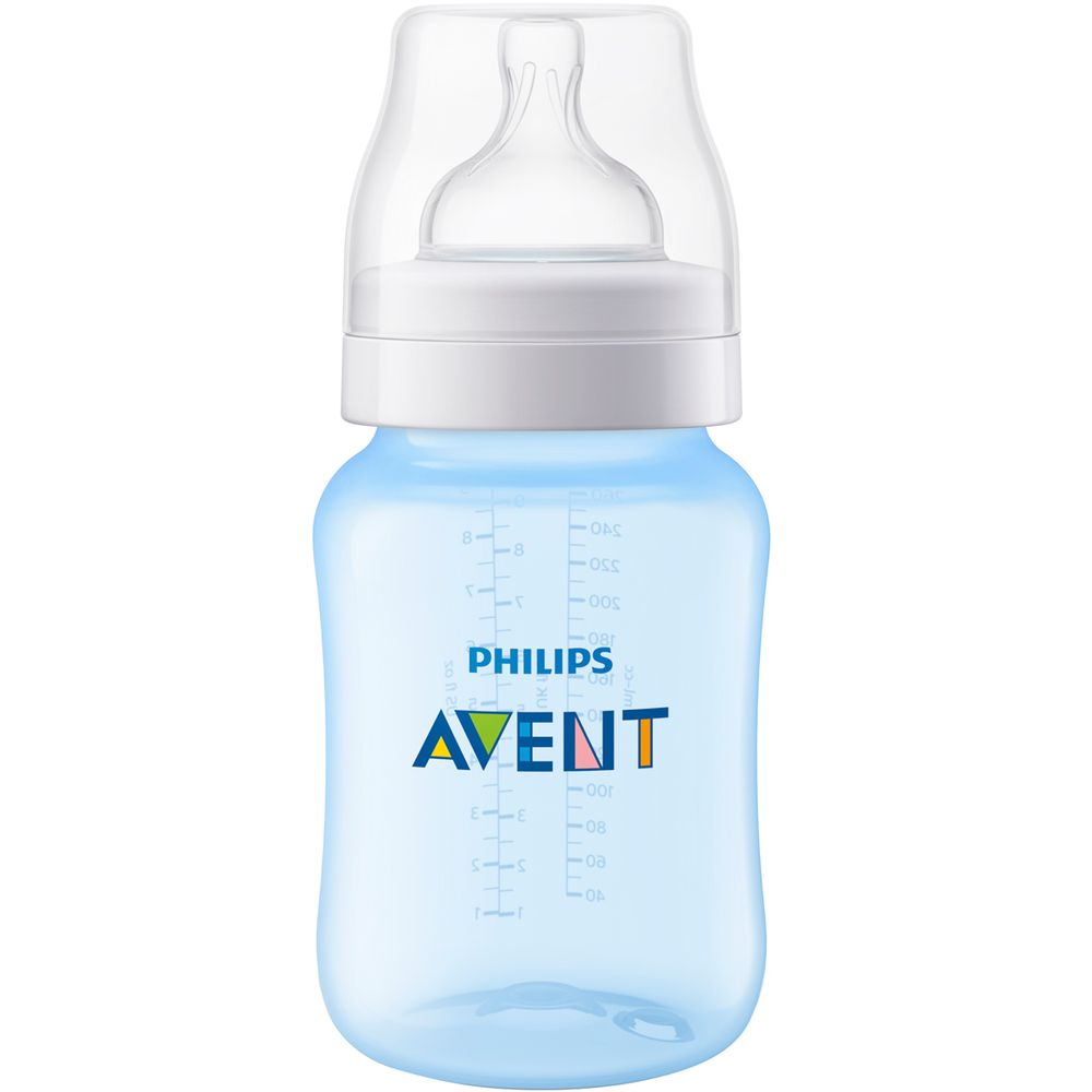 SCF815-17-A-Mamadeira-Anticolica-Azul-260ml-1m---Philips-Avent