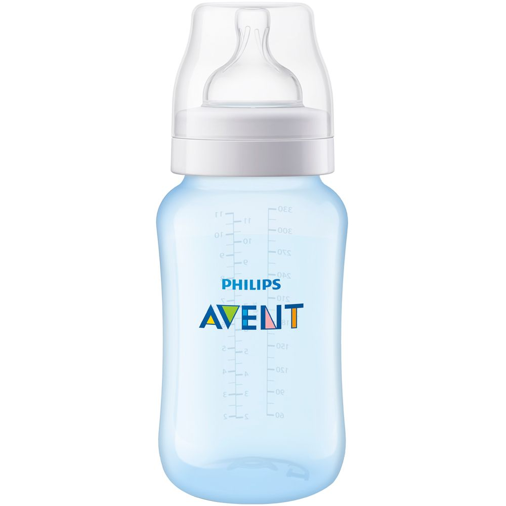SCF818-17-A-Mamadeira-Anticolica-Azul-330ml-3m---Philips-Avent
