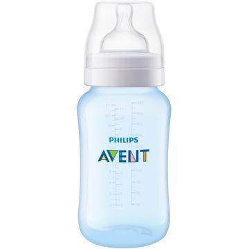 SCF818-17-A-Mamadeira-Anticolica-Azul-330ml-3m---Philips-Avent