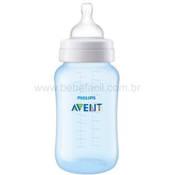 SCF818-17-B-Mamadeira-Anticolica-Azul-330ml-3m---Philips-Avent