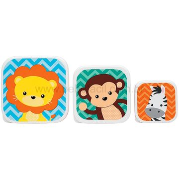 BUBA11383-B-Kit-3-Porta-Papinha-para-bebe-Animal-Fun-6m---Buba