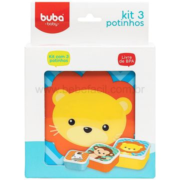 BUBA11383-H-Kit-3-Porta-Papinha-para-bebe-Animal-Fun-6m---Buba