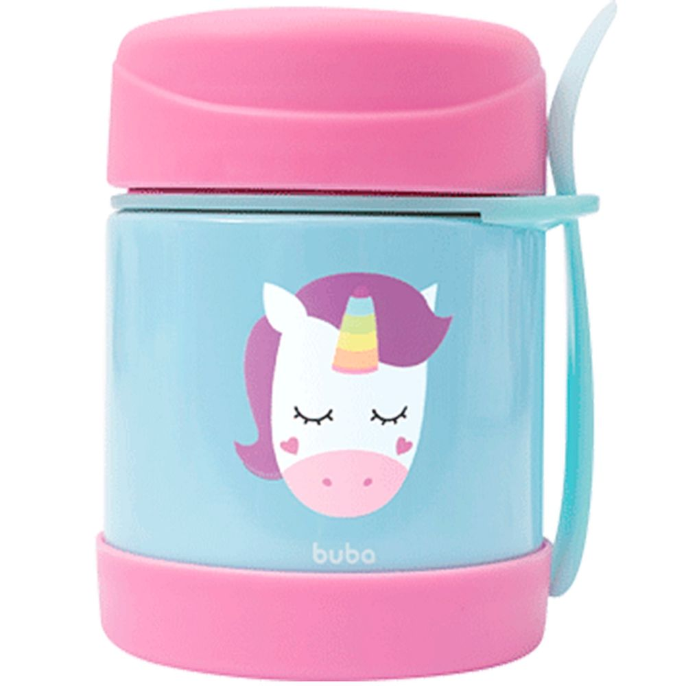 BUBA12121-A-Pote-Termico-com-Garfinho-Animal-Fun-Unicornio-6m---Buba