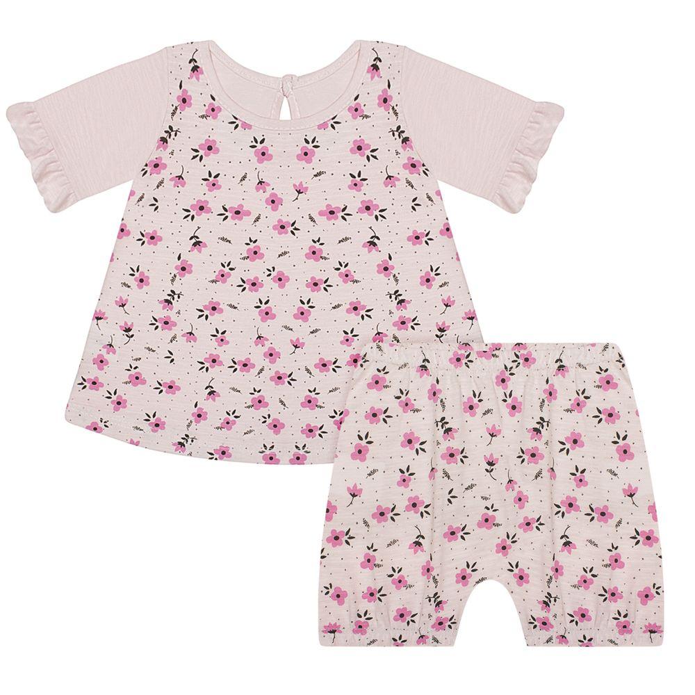 JUN50138-RS-A-moda-bebe-menina-conjunto-bata-com-short-em-malha-flame-florzinhas-rosa-junkes-baby-no-bebefacil