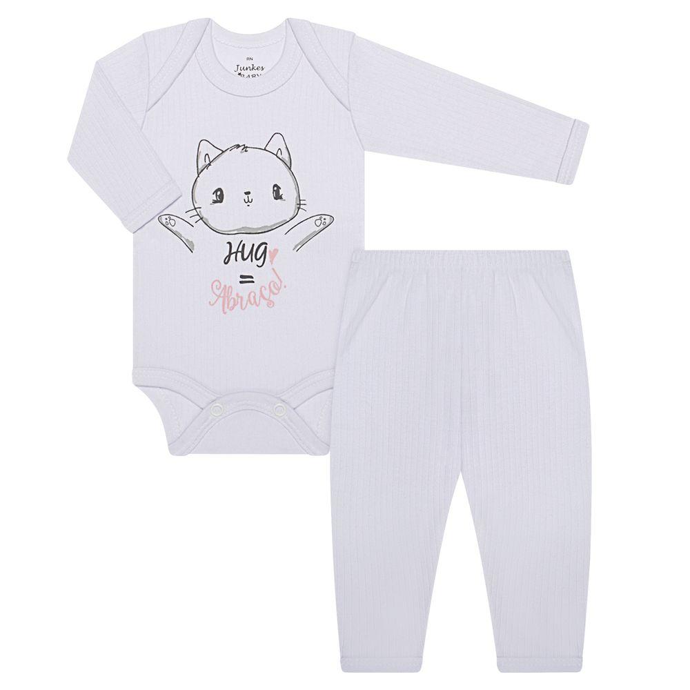JUN30101-BR-A-moda-bebe-menina-conjunto-body-longo-calca-em-malha-canelada-gatinha-abraco-junkes-baby-no-bebefacil