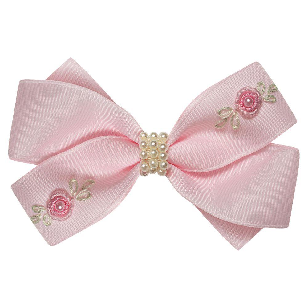01229005046-A-moda-bebe-menina-acessorios-presilha--laco-perolas-e-mini-flores-rosa-roana-no-bebefacil