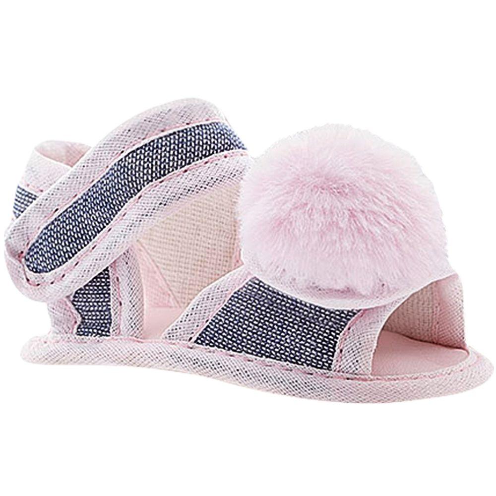 BBG-13007LP-A-Sandalia-para-bebe-Denim-Pompom-Rosa---Baby-Gut