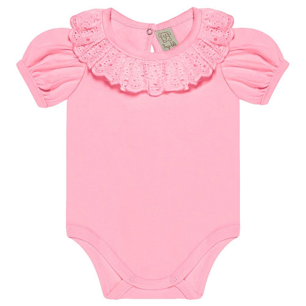 PL66653.RS-A-moda-bebe-menina-body-curto-bufante-golinha-laise-rosa-pingo-lele-no-bebefacil-loja-de-roupas-e-enxoval-para-bebes