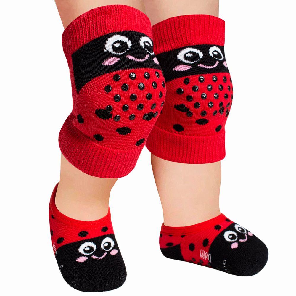 LU10015-009.5650-A-moda-bebe-menina-kit-joelheira-meia-sapatilha-joaninha-lupo-no-bebefacil-loja-de-roupas-enxoval-e-acessorios-para-bebes