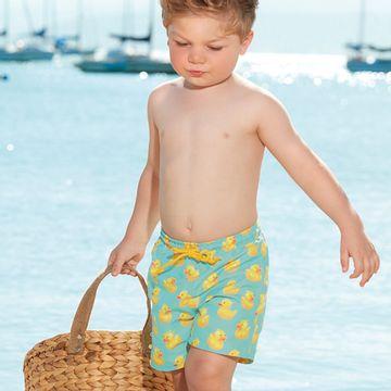 42859-SUB837-B-moda-praia-bebe-menino-bermuda-em-tactel-patinho-up-baby-no-bebefacil-loja-de-roupas-para-bebes