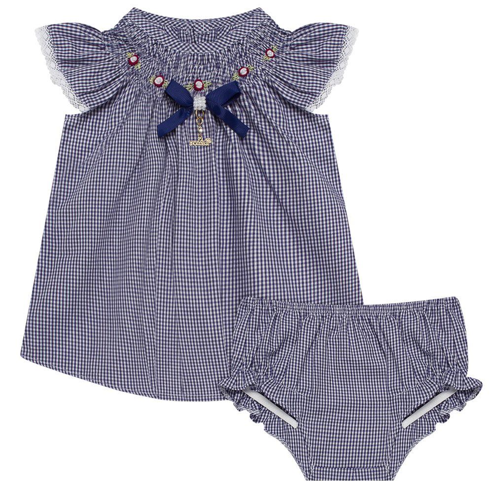 5441079008-A-moda-bebe-menina-vestido-com-calcinha-casinha-de-abelha-xadrez-marinho-roana-no-bebefacil