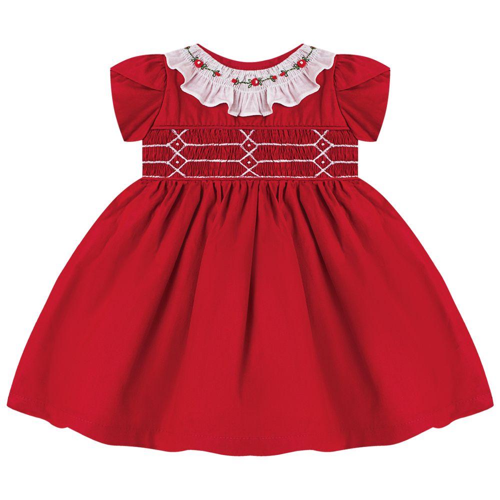 5351078B007-A-moda-bebe-menina-vestido-casinha-de-abelha---flores-vermelho-roana-no-bebefacil