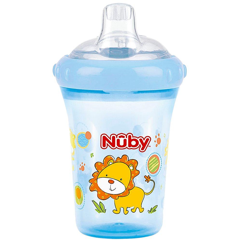 NB09613.012-A-A-Copo-de-Treinamento-com-Bico-Easy-Sipper-Leao-Azul-207ml-6m---Nuby