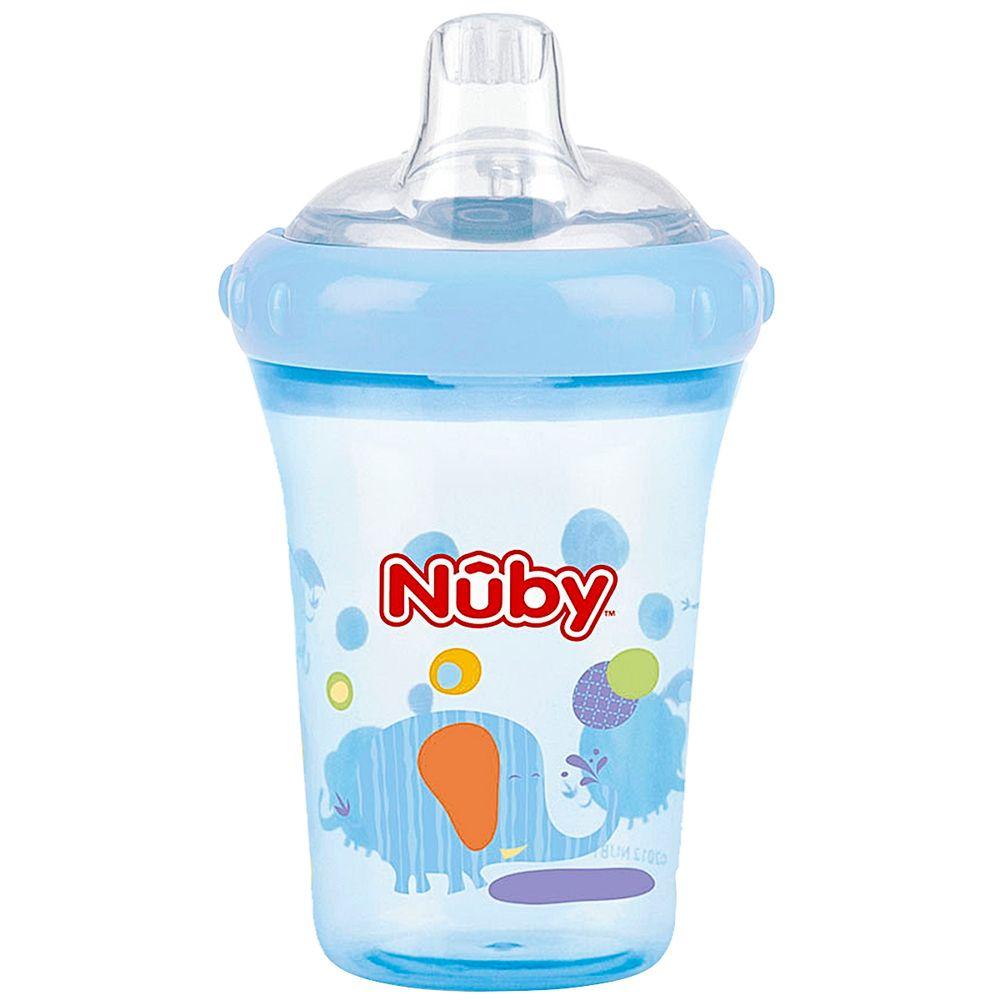 NB09613.012-B-A-Copo-de-Treinamento-com-Bico-Easy-Sipper-Elefante-Azul-207ml-6m---Nuby