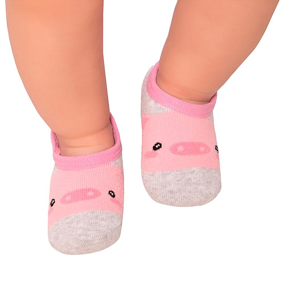 LK044.002-01-moda-bebe-menina-meia-sapatilha-pig-leke-no-bebefacil-loja-de-roupas-enxoval-e-acessorios-para-bebes