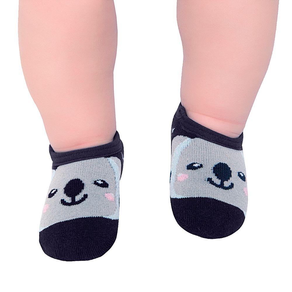 LK044.006-01-moda-bebe-menino-meia-sapatilha-Coala-leke-no-bebefacil-loja-de-roupas-enxoval-e-acessorios-para-bebes