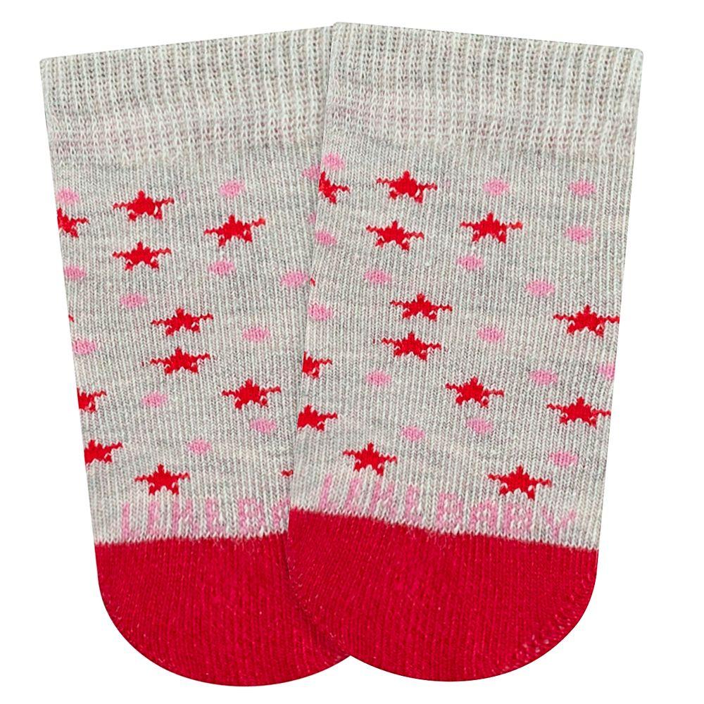 LK059.003-02-moda-bebe-menina-meia-soquete-atoalhado-estrelinhas-vermelha-leke-no-bebefacil-loja-de-roupas-enxoval-e-acessorios-para-bebes