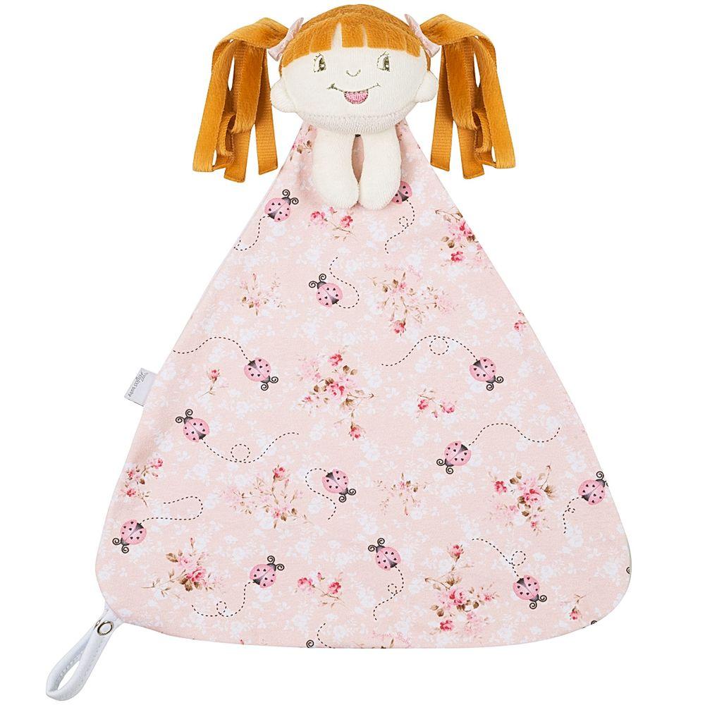 204922-T06-A-enxoval-e-maternidade-bebe-menina-naninha-em-plush-menininha-joaninha-rosa-anjos-baby-no-bebefacil-loja-de-roupas-enxoval-e-acessorios-para-bebes