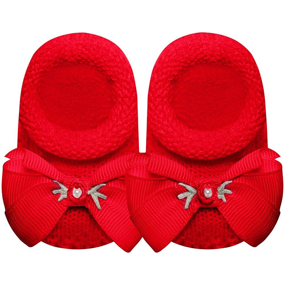 01419027007-A-sapatinho-bebe-menina-sapatinho-tricot-laco-e-mini-flor-vermelho-roana-no-bebefacil
