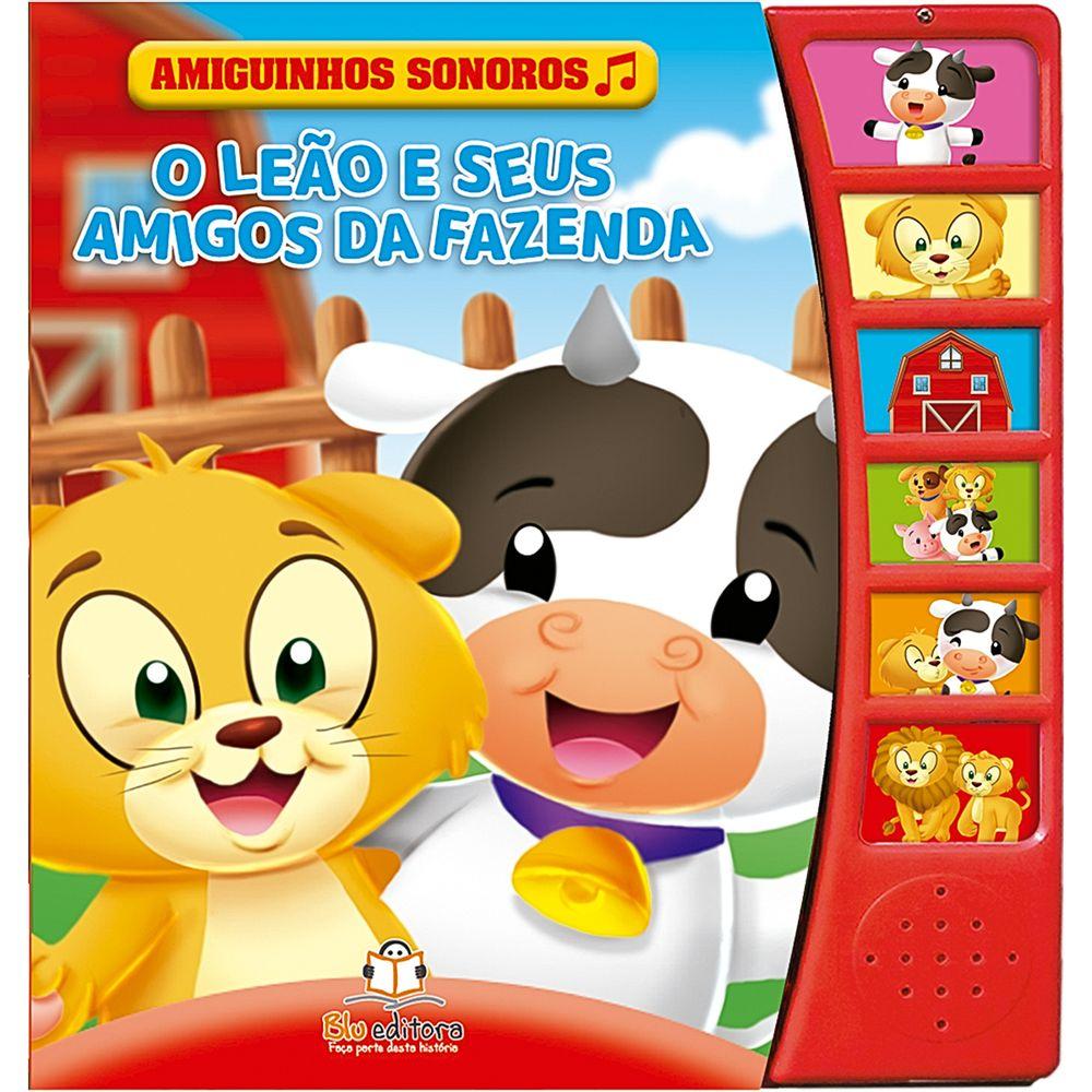 BLU721-A-Livro-Amiguinhos-Sonoros-O-Leao-e-Seus-Amigos-da-Fazenda---Blu-Editora