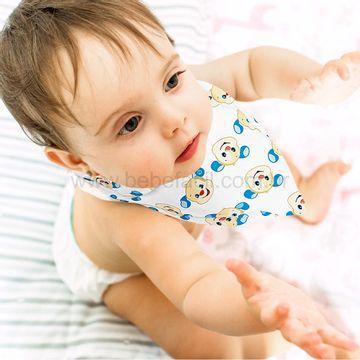 30040304010002-B-Babador-Bandana-para-bebe-em-suedine-Cachorrinho---Fisher-Price