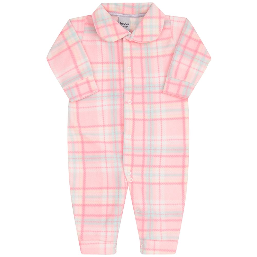 JUN50101-X-A-moda-bebe-menina-macacao-longo-com-golinha-em-soft-xadrez-rosa-junkes-baby-no-bebefacil-loja-de-roupas-enxoval-e-acessorios-para-bebes