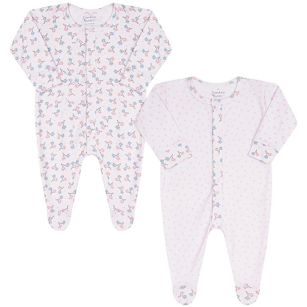 JUN30131-F-A-moda-bebe-menina-pack-2-macacoes-longos-em-suedine-floral-junkes-baby-no-bebefacil-loja-de-roupas-enxoval-e-acessorios-para-bebes
