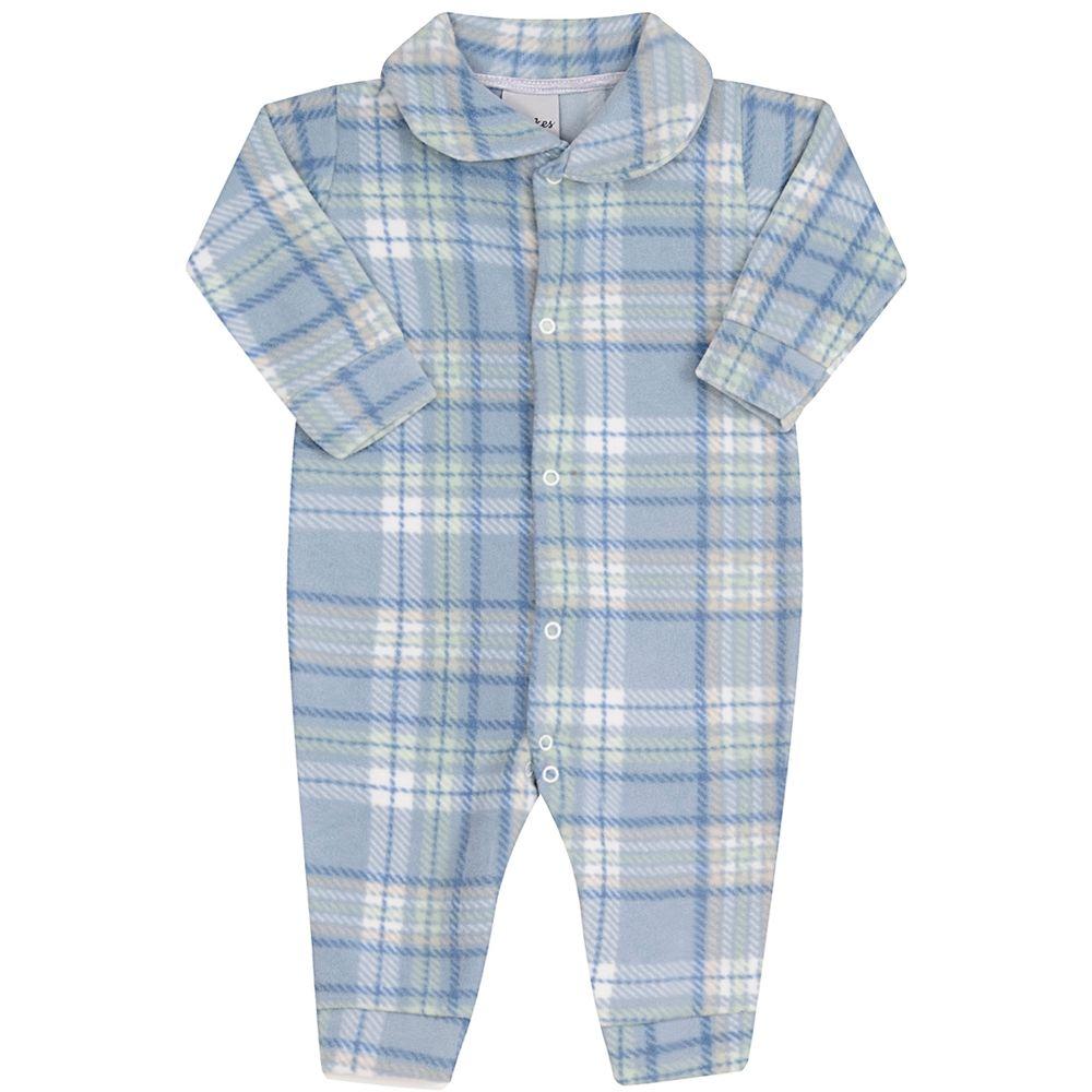 JUN51011-XA-A-moda-bebe-menino-macacao-longo-com-golinha-em-soft-xadrez-azul-junkes-baby-no-bebefacil-loja-de-roupas-enxoval-e-acessorios-para-bebes
