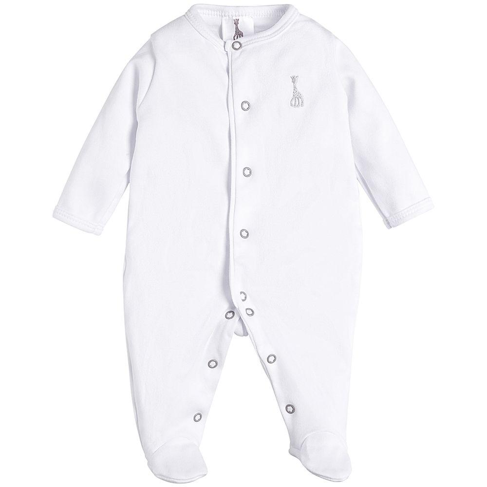 1710-1711-A-moda-bebe-menina-menino-macacao-longo-malha-algodao-egipcio-bordado-branco-sophie-la-girafe-no-bebefacil-loja-de-roupas-enxoval-e-acessorios-para-bebes
