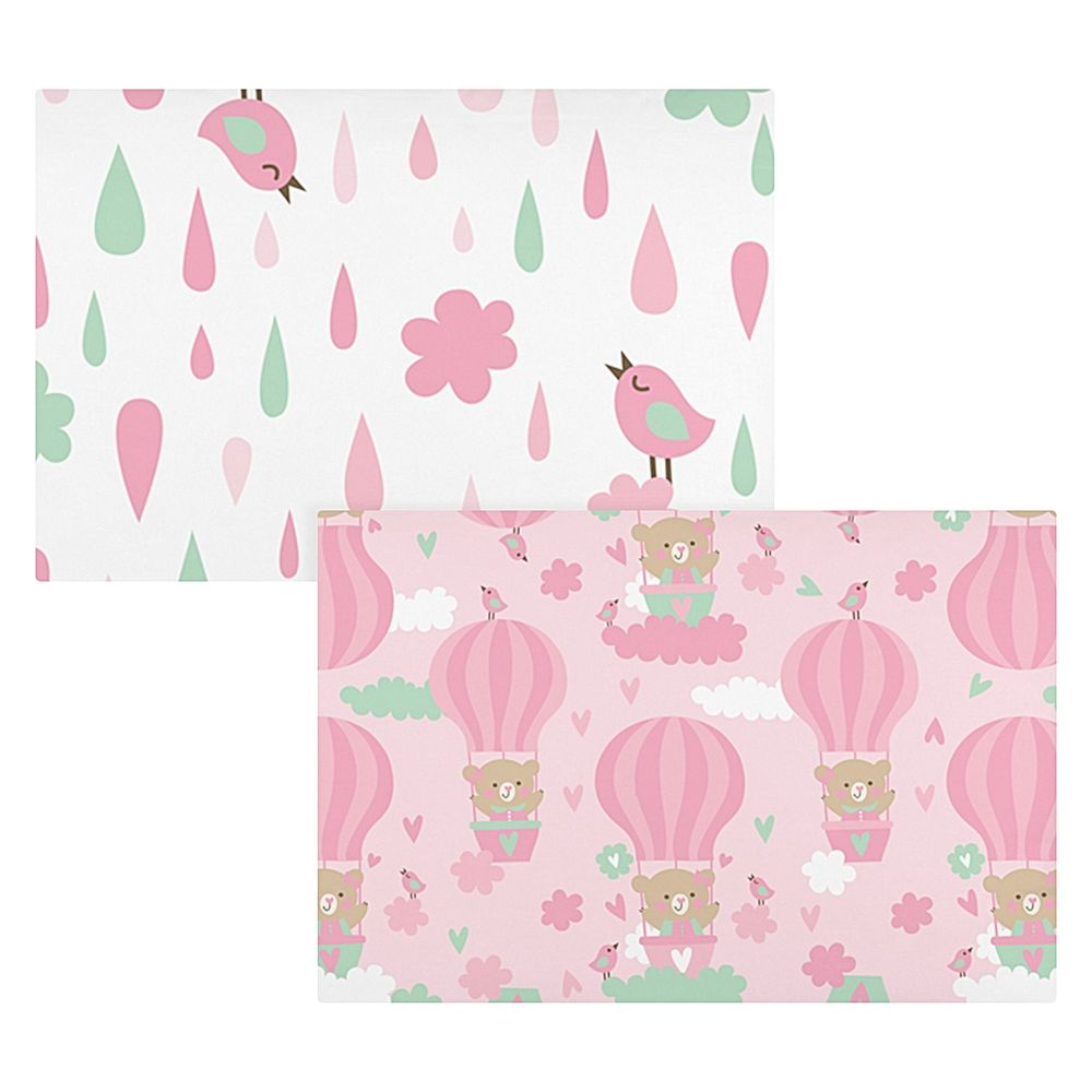 02041300010026-A-Kit-2-Fronhas-para-bebe-em-malha-Baloes-Rosa-Bambi---Incomfral