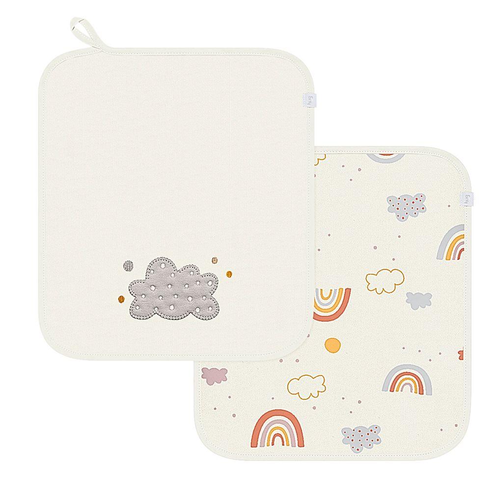 E14901A-A-enxoval-e-maternidade-bebe-menina-menino-kit-2-fraldinhas-de-boca-em-suedine-siga-o-arco-iris-hug-no-bebefacil-loja-de-roupas-enxoval-e-acessorios-para-bebes
