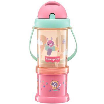 BB1013-A-Copo-com-Porta-Snack-Playful-Rosa-Sunset-300ml-12m---Fisher-Price