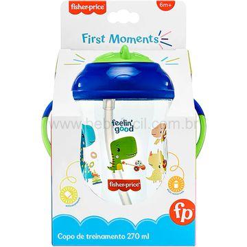 BB1016-C-Copo-de-Treinamento-com-Canudo-First-Moments-270ml-Azul-Blueberry-Smoothie-6m---Fisher-Price