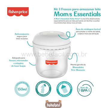 BB1077-C-Kit-3-Frascos-para-Armazenar-Leite-150ml-Moms-Essentials---Fisher-Price