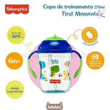BB1016-D-Copo-de-Treinamento-com-Canudo-First-Moments-270ml-Azul-Blueberry-Smoothie-6m---Fisher-Price