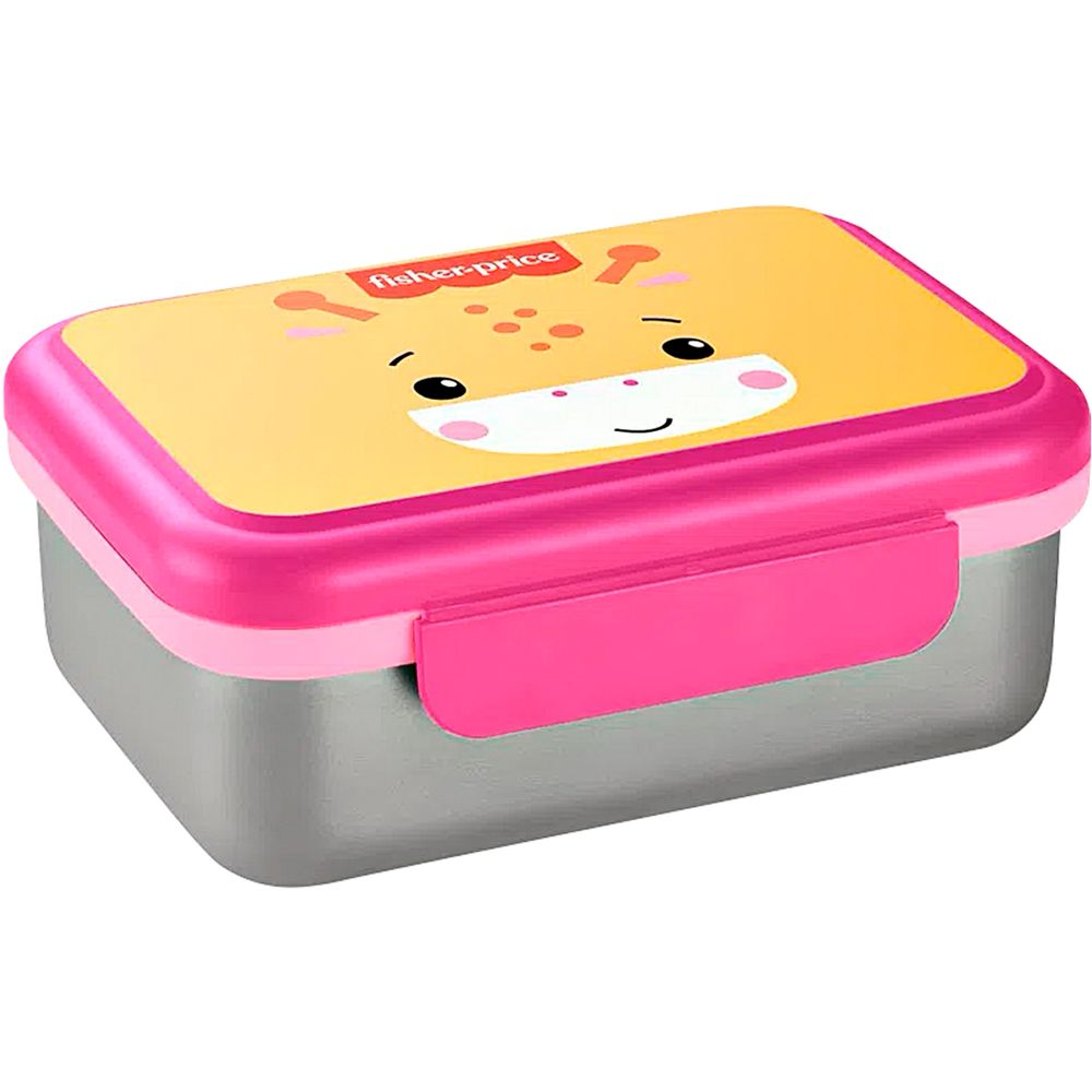 BB1093-A-Bento-Box-Aco-Inox-Hot-Cold-800ml-Rosa-Shock-6m---Fisher-Price